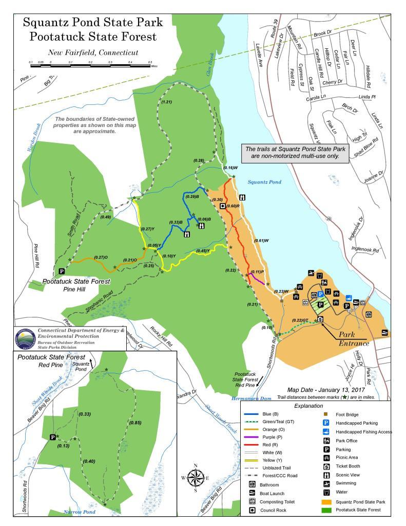 Squantz Pond State Park trail map