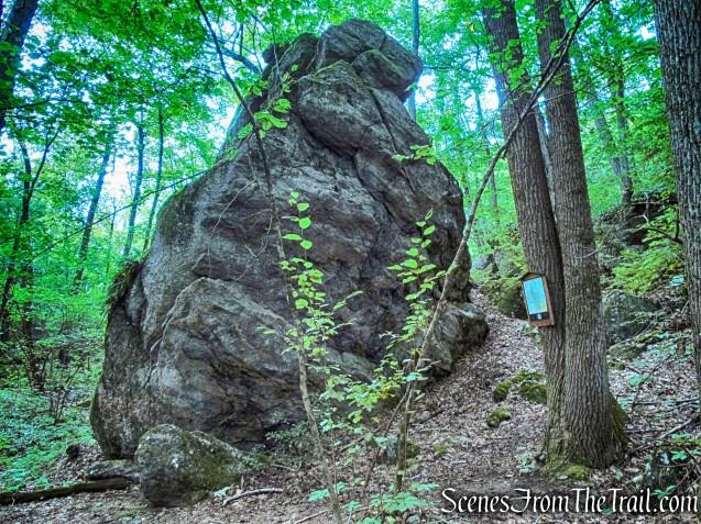 Pyramid Rock - Mica Ledges Preserve