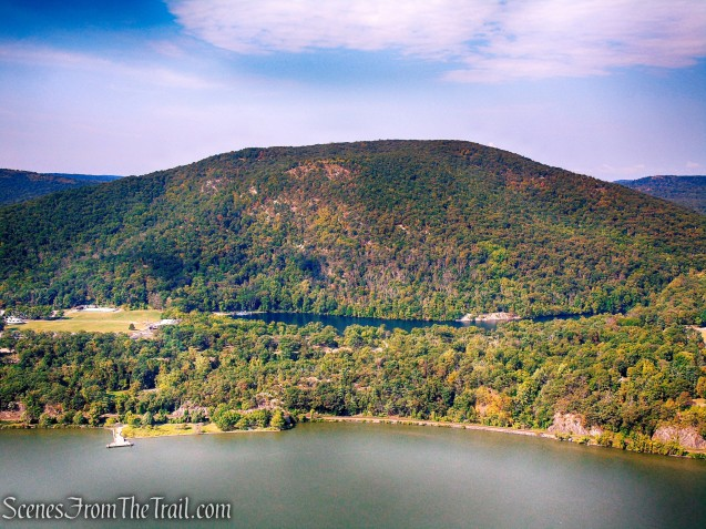 Bear Mountain and Hessian Lake as viewed from Anthony's Nose