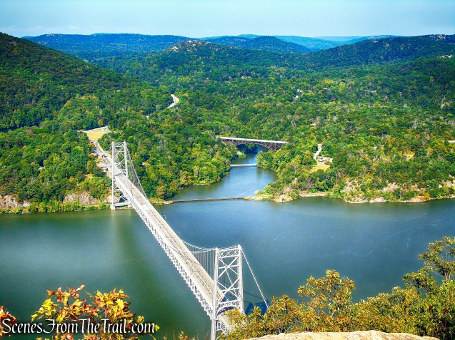 Bear Mountain Bridge and the Hudson River as viewed from Anthony's Nose
