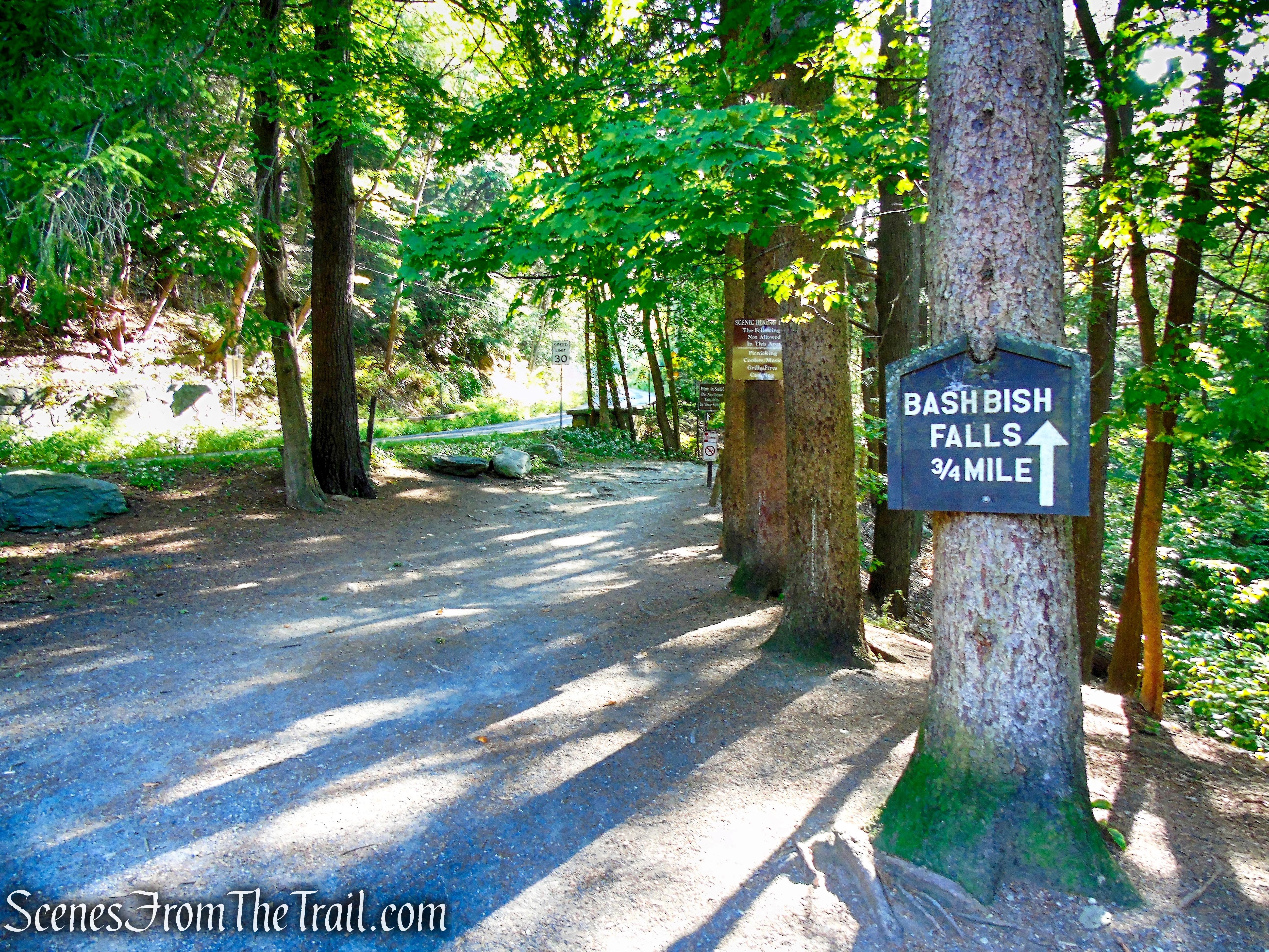 Bash Bish Falls - NY Trailhead