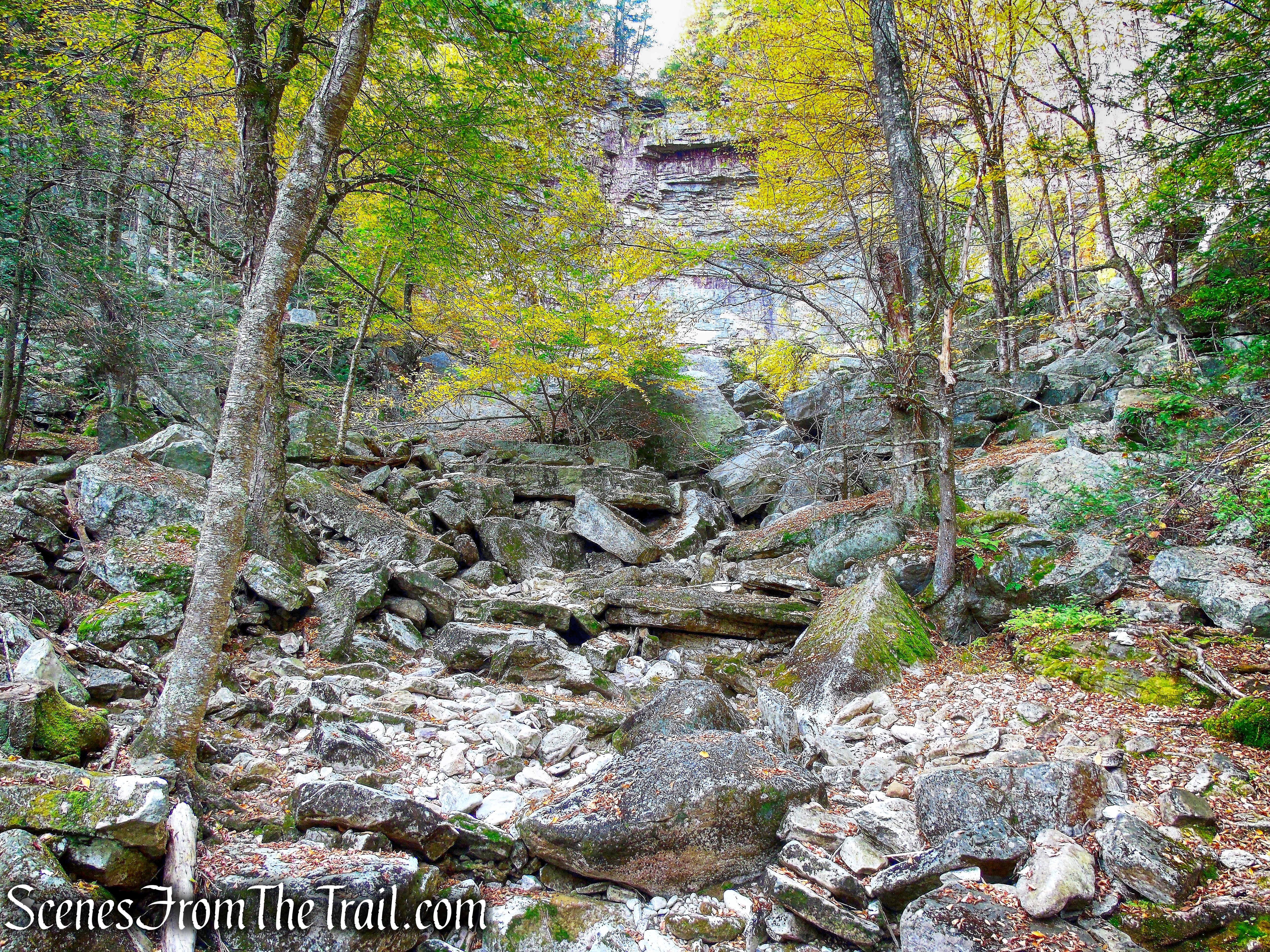 a dry Stony Kill - Stony Kill Footpath - Minnewaska State Park Preserve