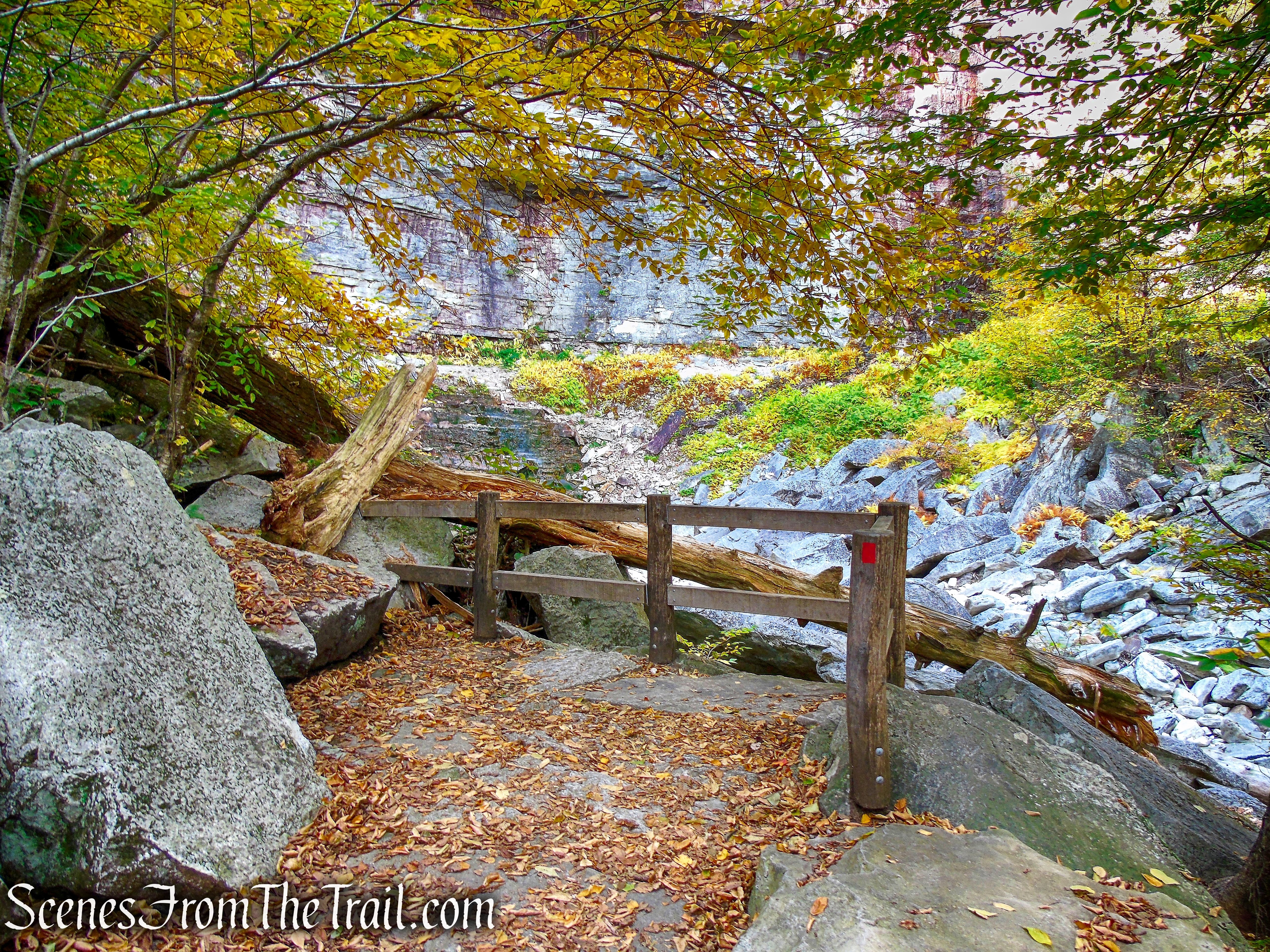 Stony Kill Falls viewing platform - Stony Kill Footpath - Minnewaska State Park Preserve