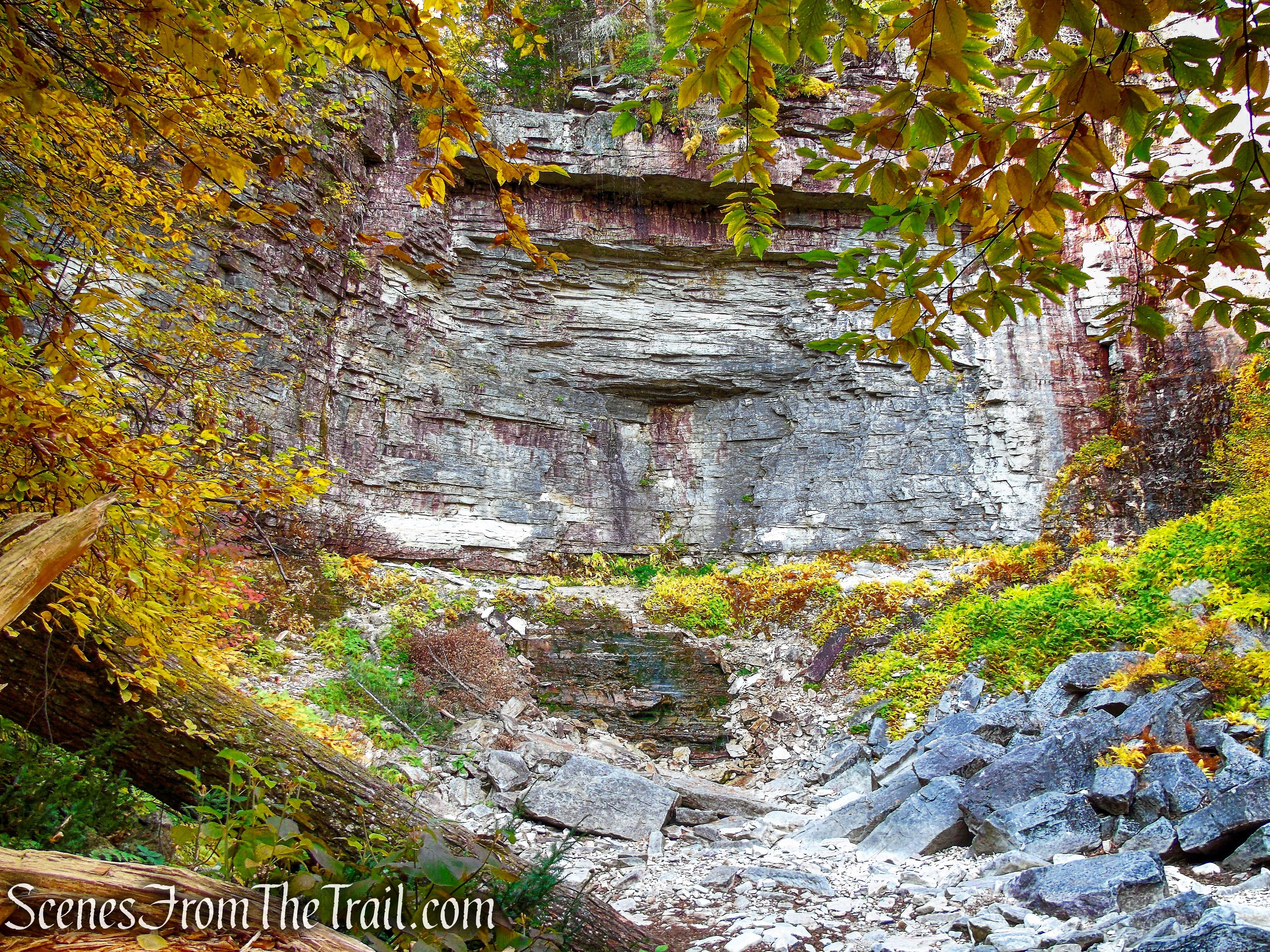a dry Stony Kill Falls - Minnewaska State Park Preserve