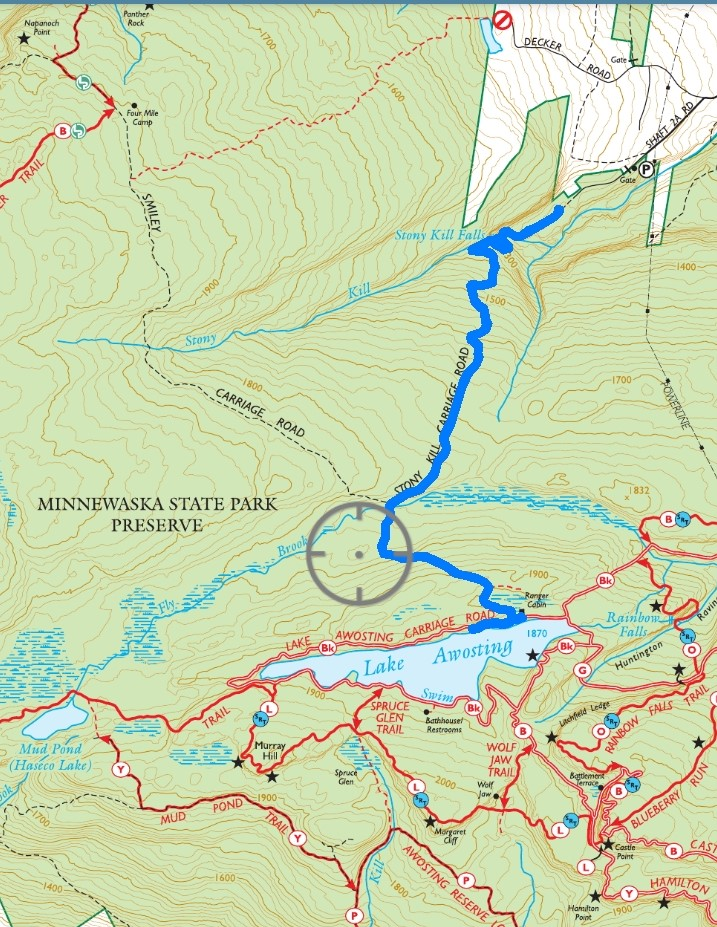 Lake Awosting via Stony Kill Carriage Road - Minnewaska State Park Preserve