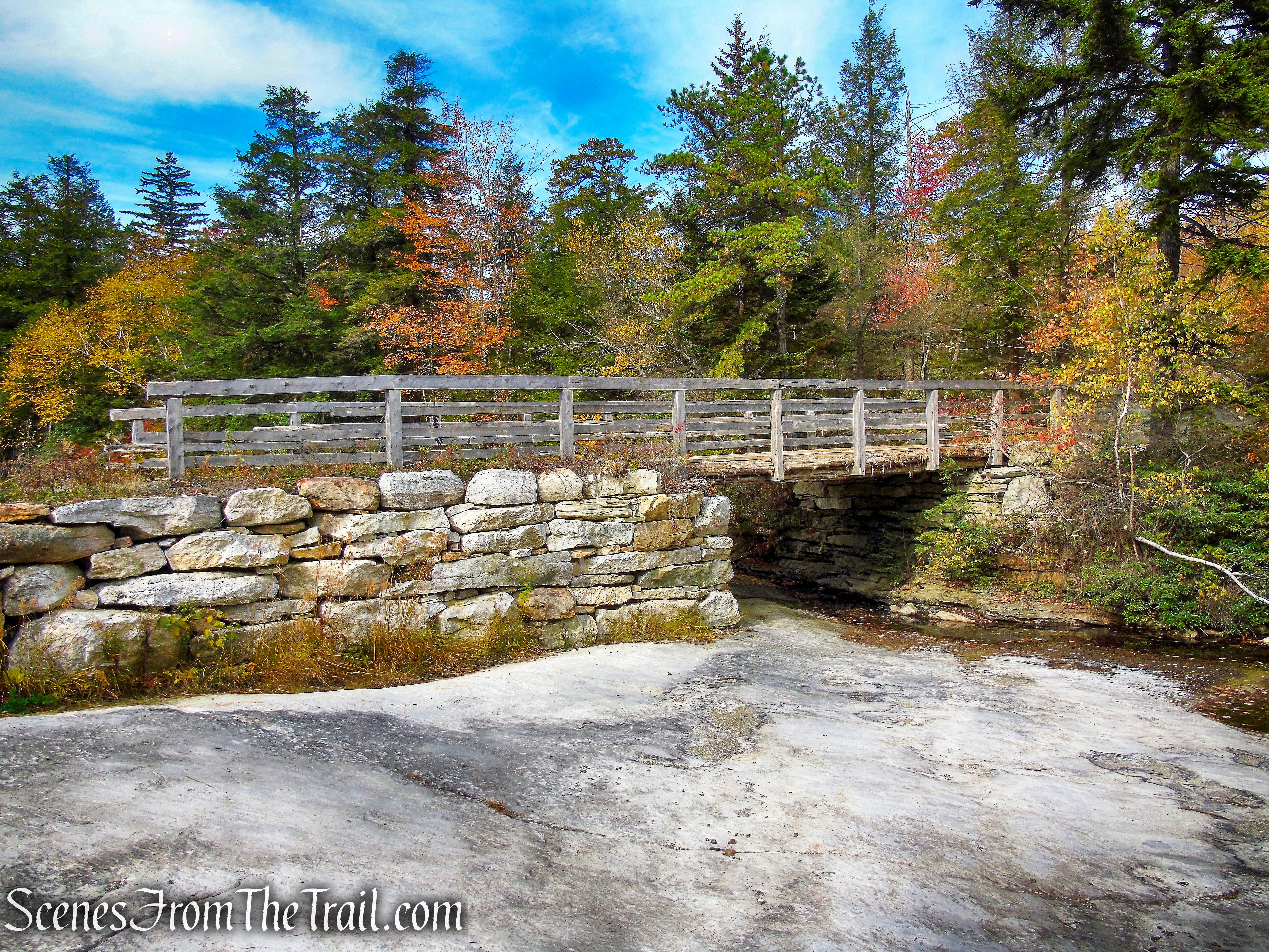 bridge over Fly Brook on the Smiley Carriage Road - Minnewaska State Park Preserve