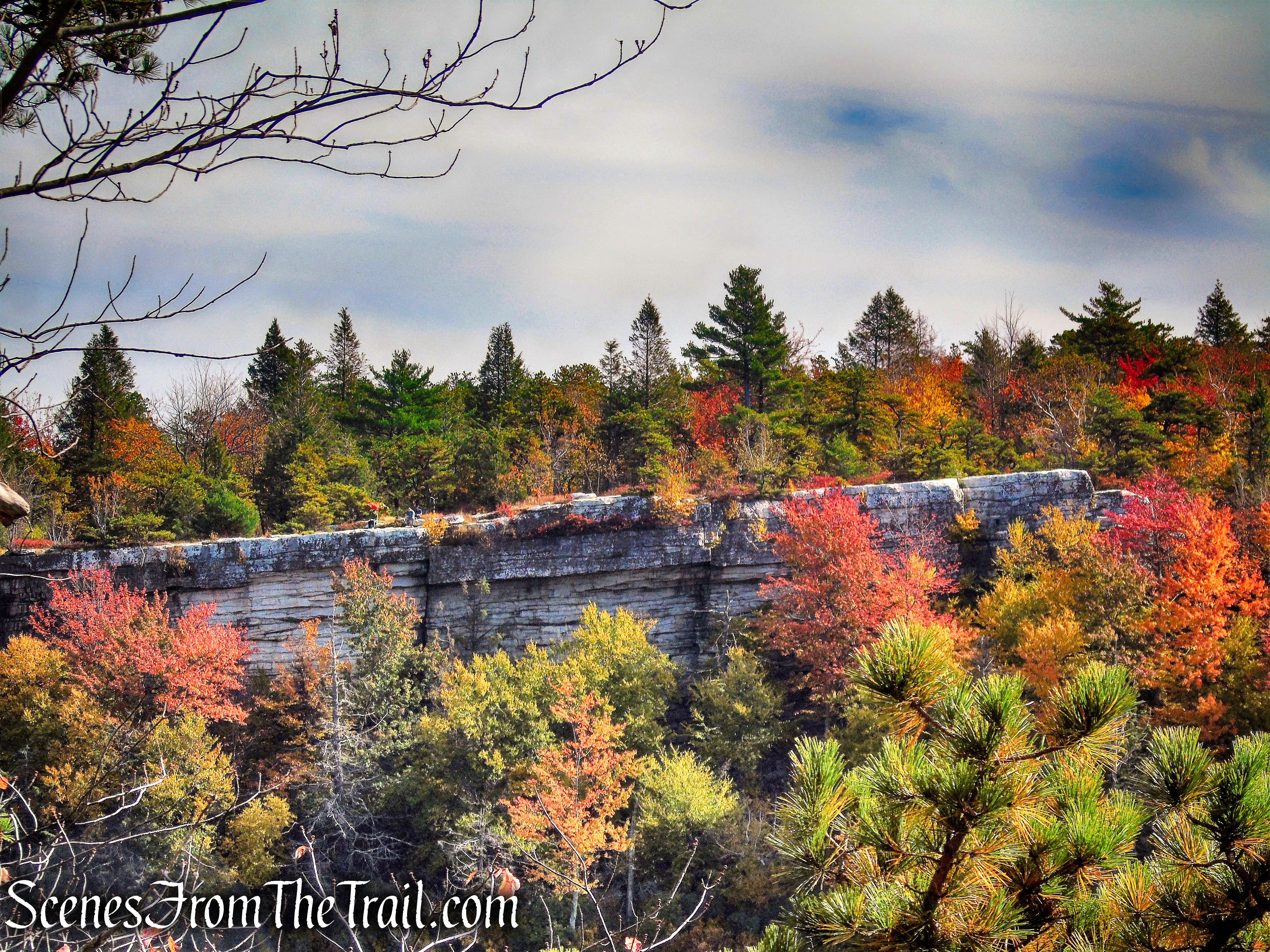 cliffs above Lake Awosting - Minnewaska State Park Preserve