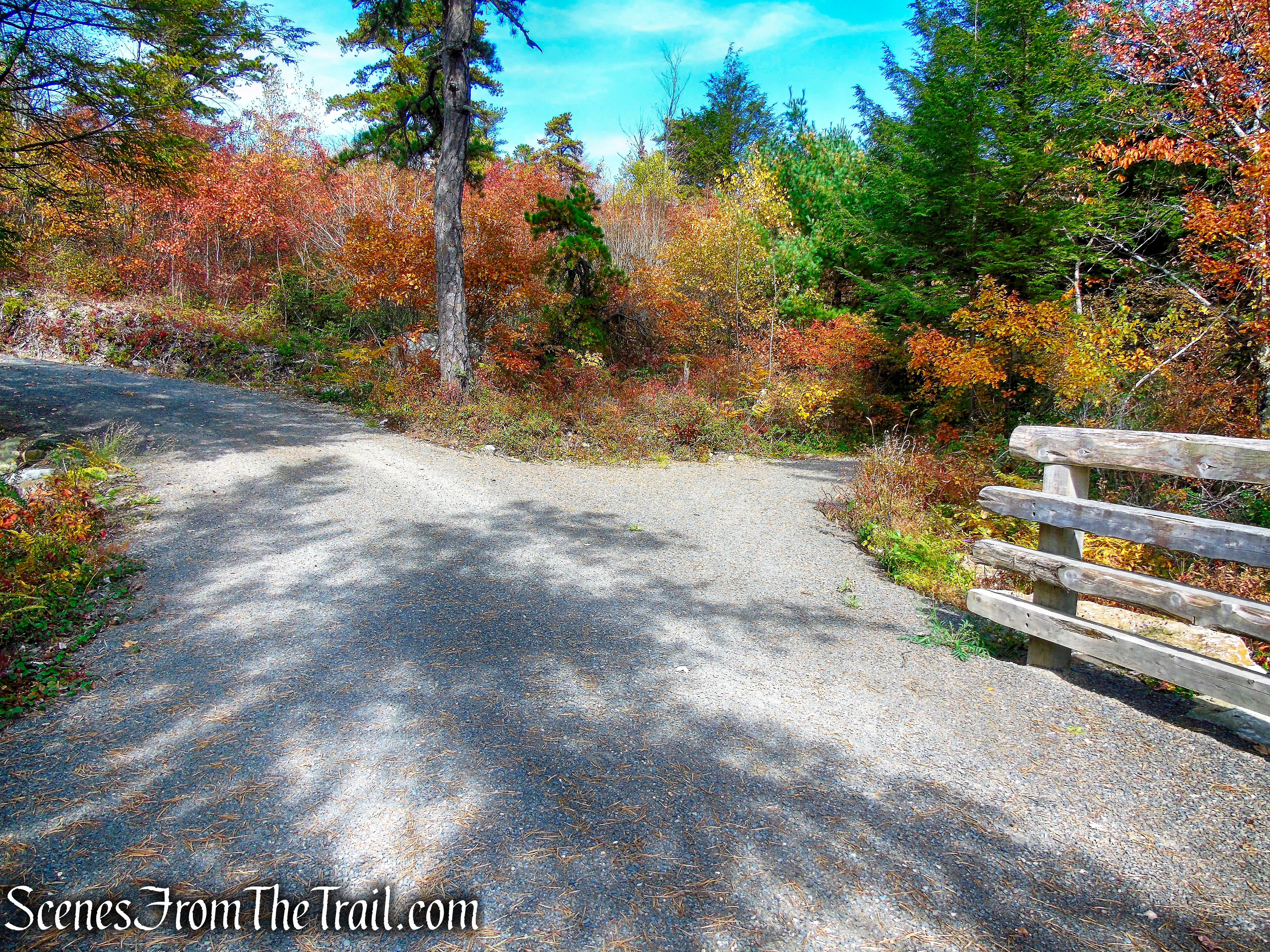 turn right on Stony Kill Carriage Road - Minnewaska State Park Preserve