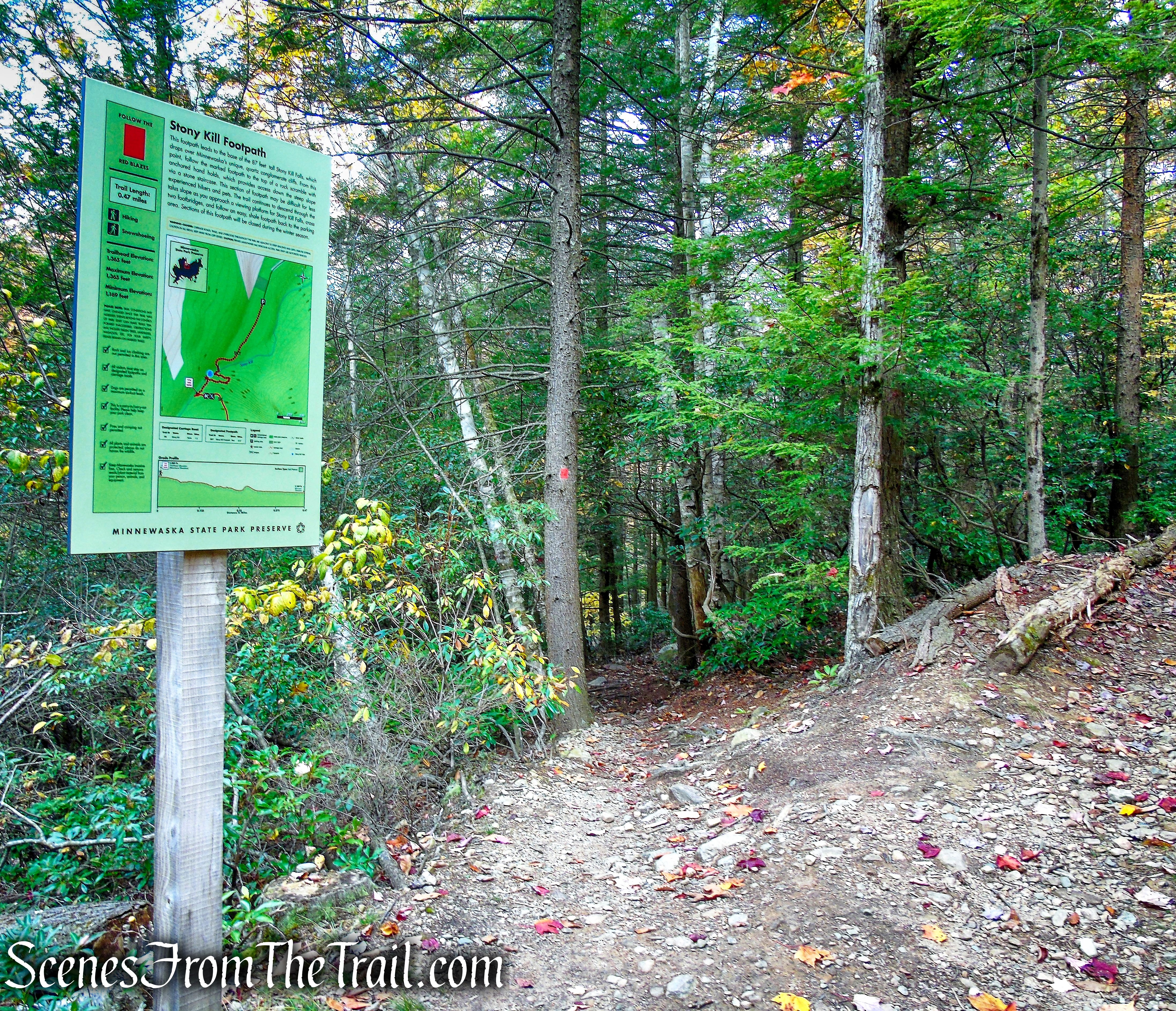 turn right on Stony Kill Footpath - Minnewaska State Park Preserve