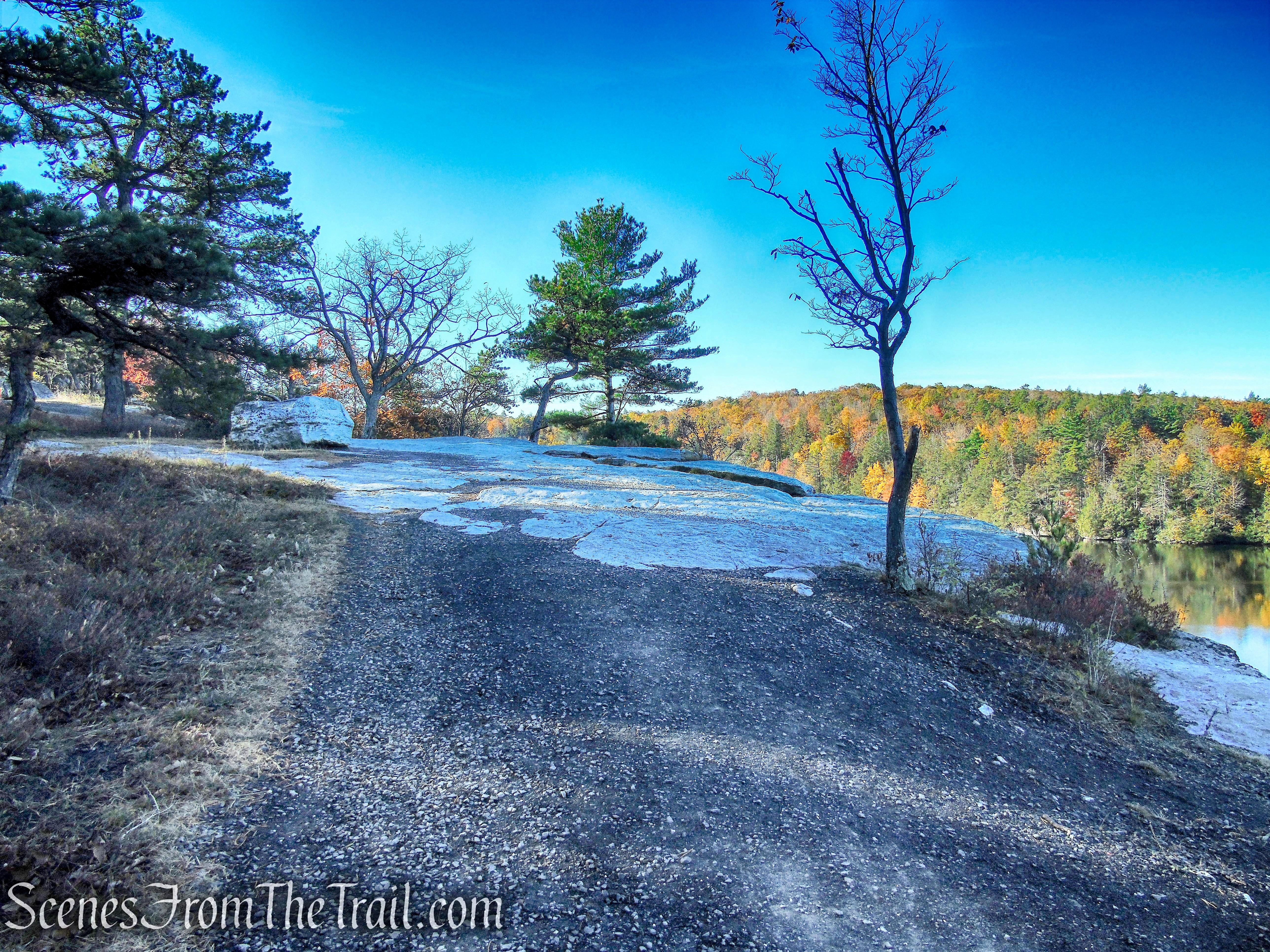 gravel road near cliffs - Minnewaska State Park Preserve