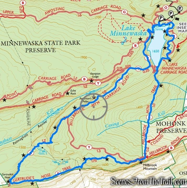 Gertrude's Nose Loop - Minnewaska State Park Preserve