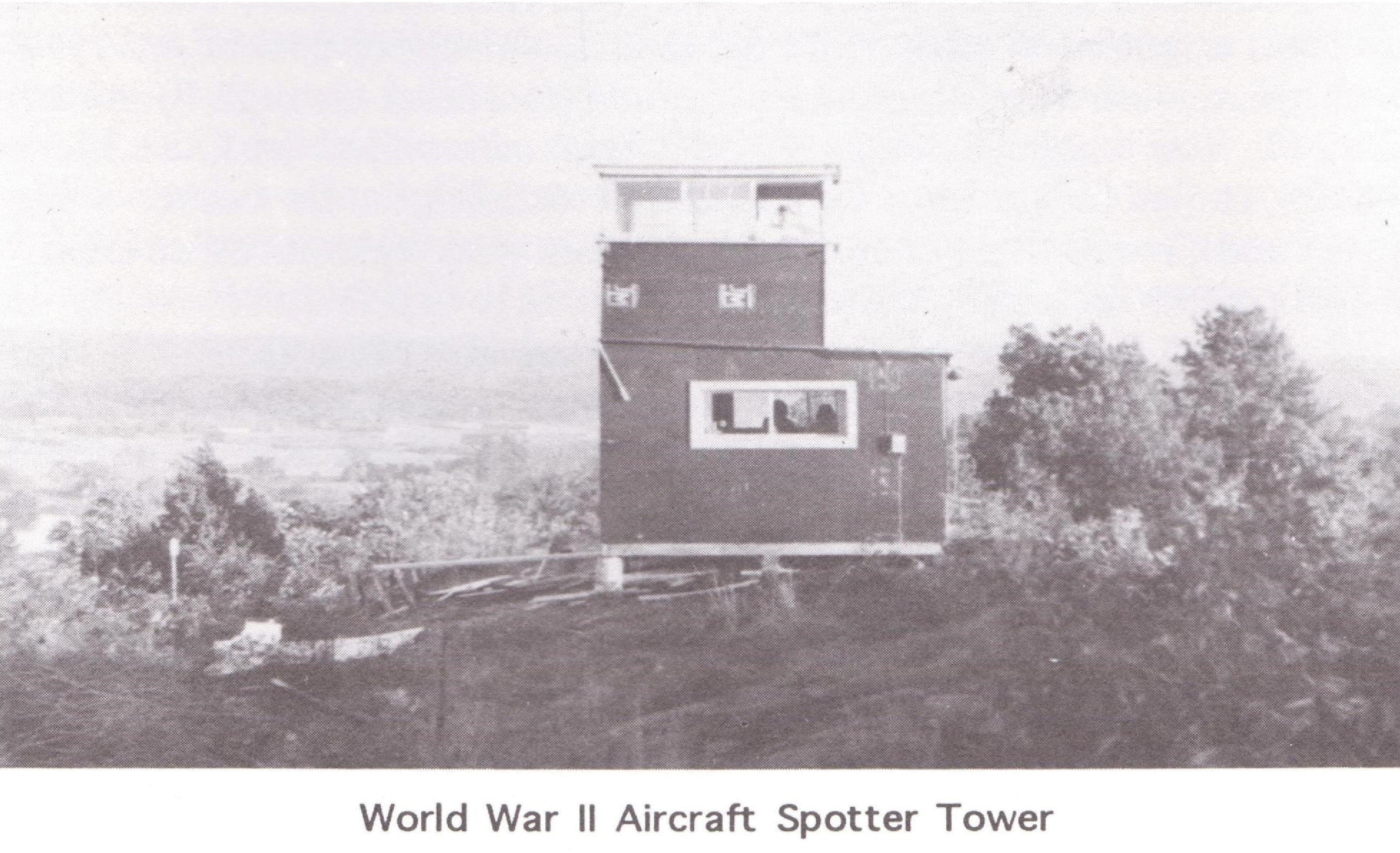 airplane spotter station on Liberty Hill