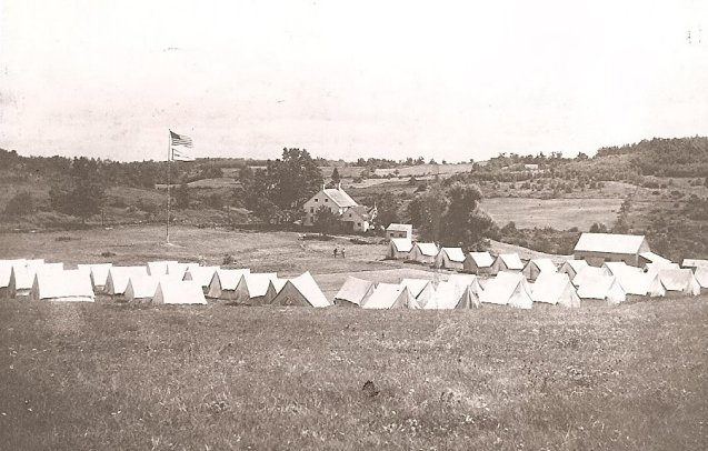 Camp Columbia tents