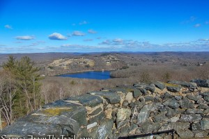 view over Mount Tom Pond from Mount Tom Tower