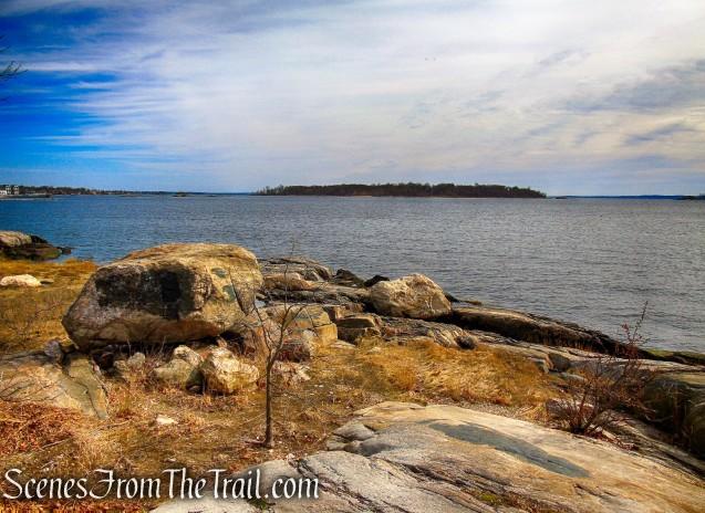 Looking northeast towards Davids Island
