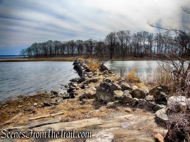 man-made stone bridge ruins - Hunter Island