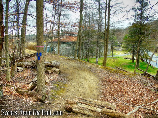 terminus of Blue Trail - Buttermilk Ridge County Park