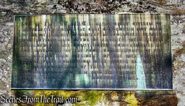 Macy Monument - Irvington Woods