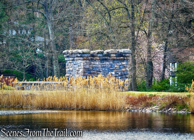 stone gatehouse - Irvington Reservoir
