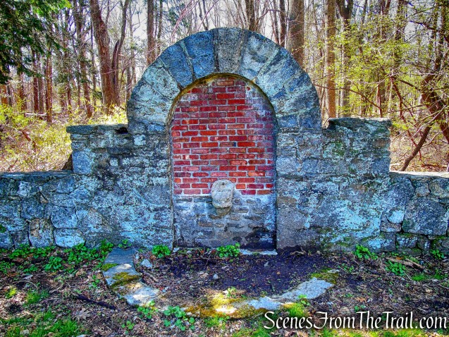 fountain ruins - French Hill Section