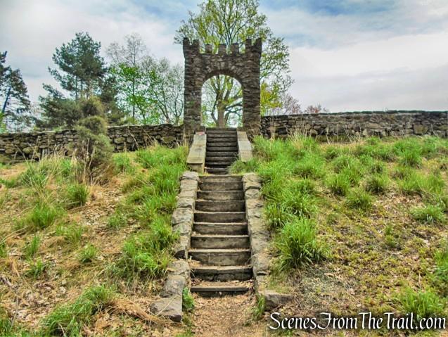 stone staircase - Lenoir Preserve