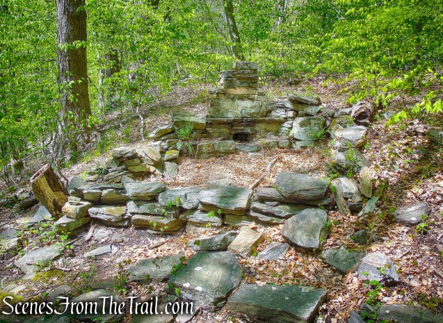 stone ruins - Yellow Trail - Silver Lake Preserve