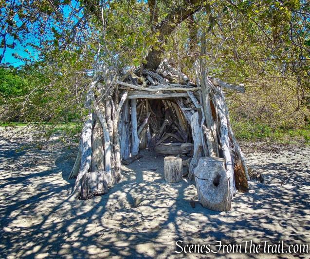 driftwood hut - Croton Landing Park