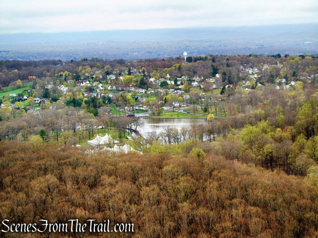 Mirror Lake and Hubbard Park from South Mountain