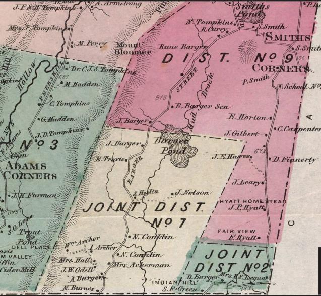 Frederick Beers map - Yorktown 1867