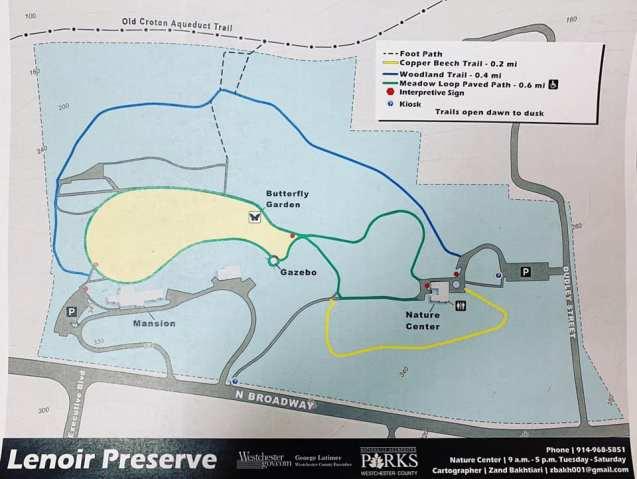 Lenoir Nature Preserve Map