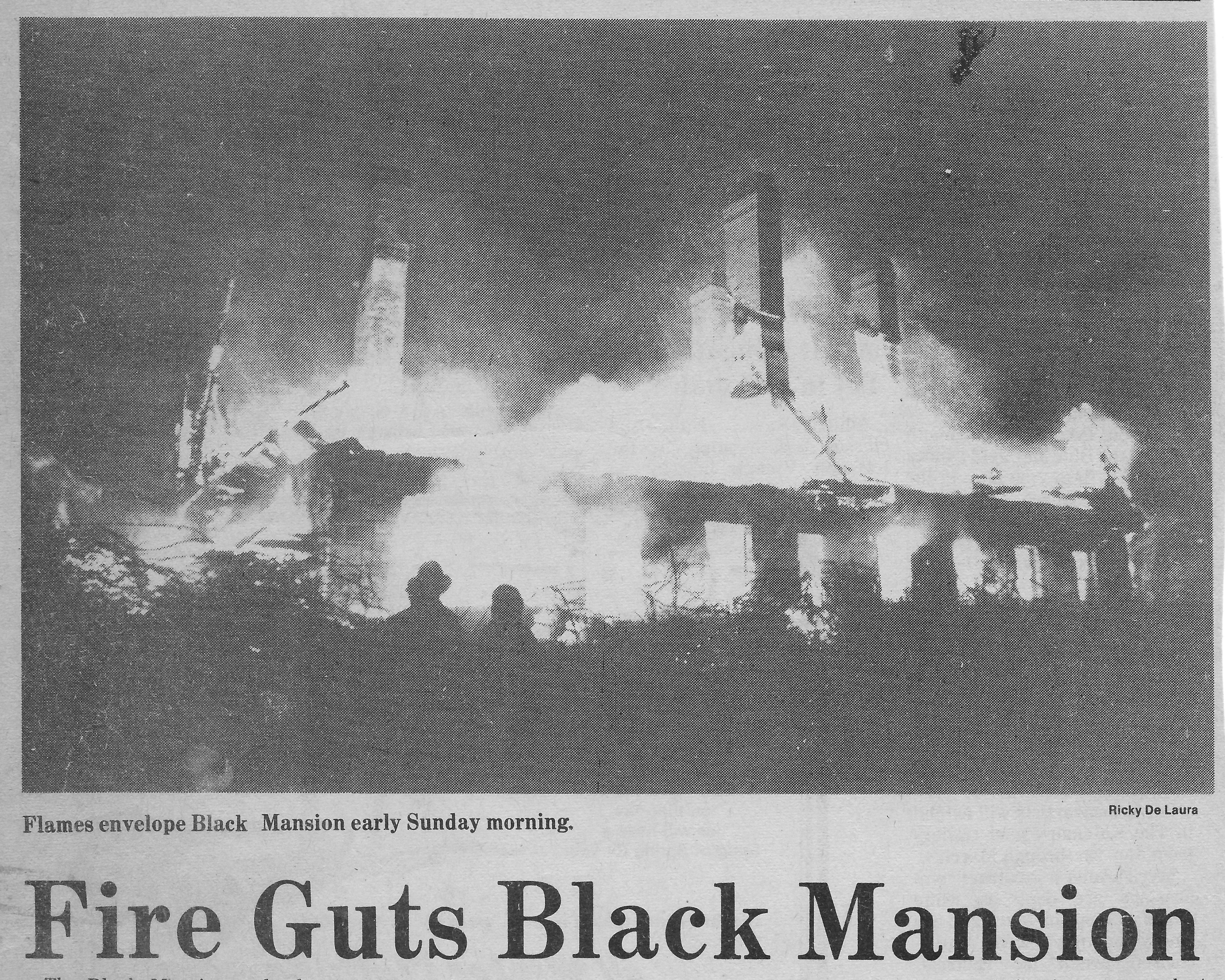 Black Mansion - January 28, 1979 - image courtesy of Maureen Koehl
