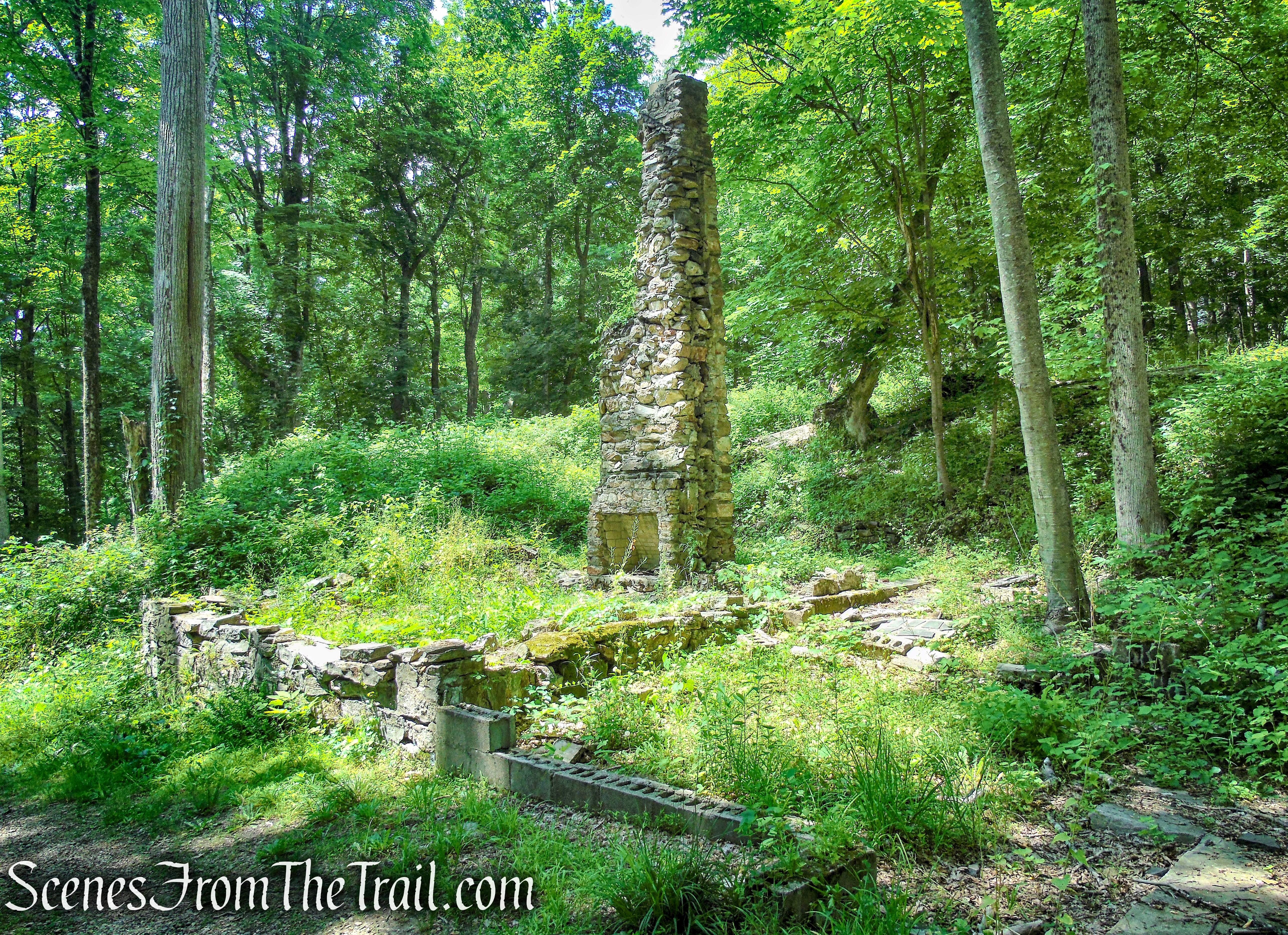 stone ruins on Blue Trail