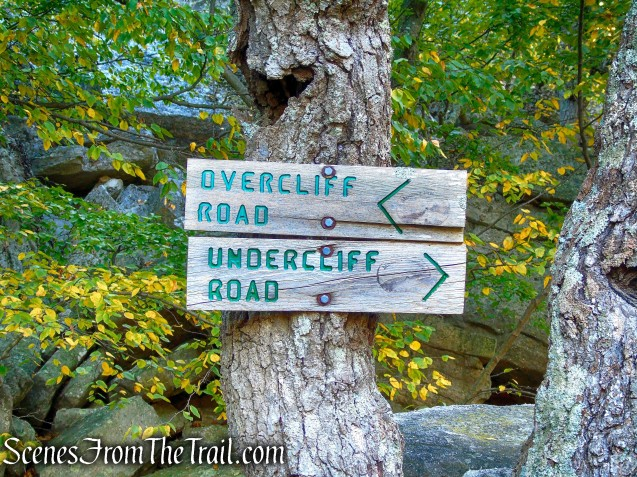 turn left on Overcliff Road