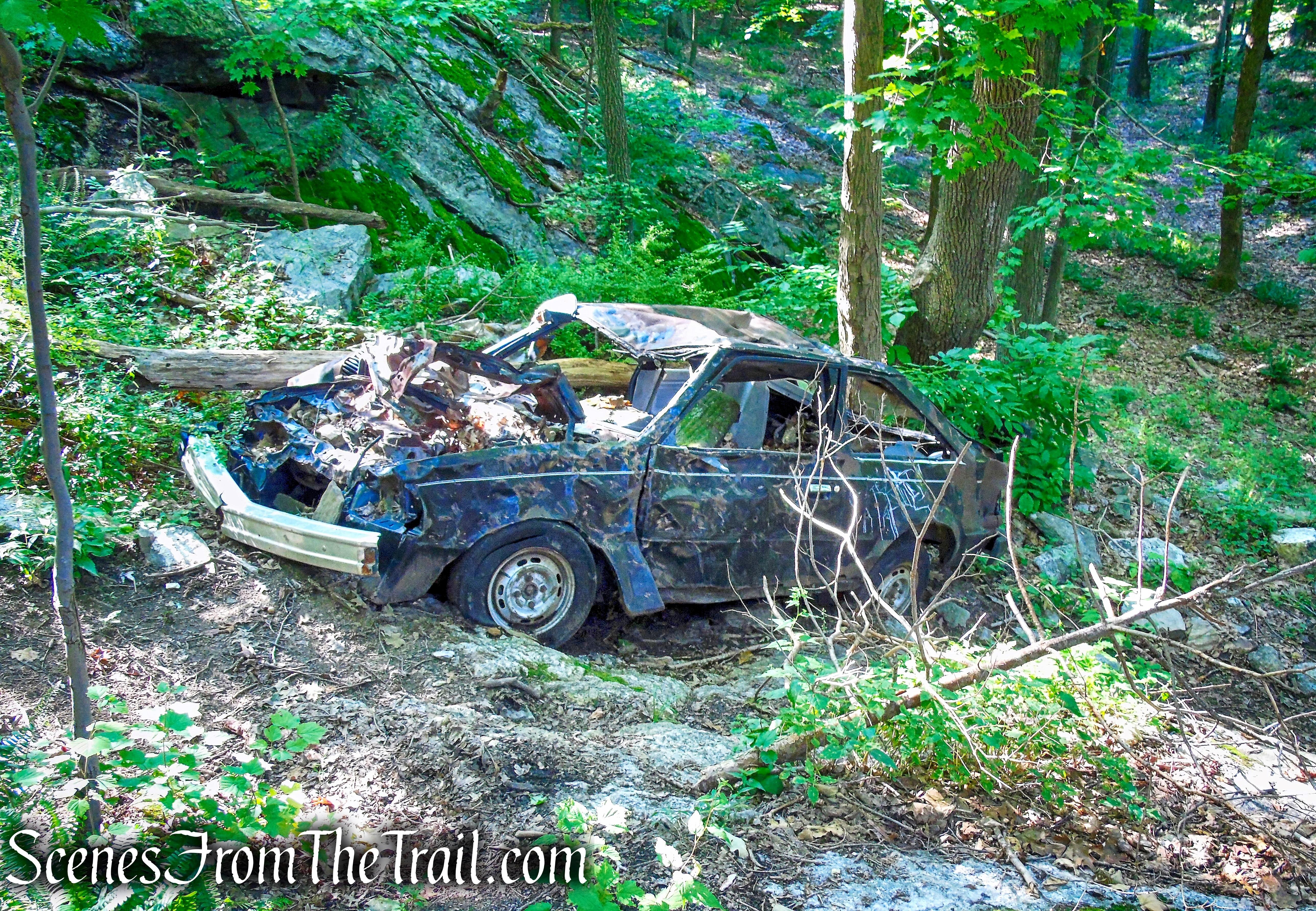 car wreck - Little-Laurel Lime Ridge Park