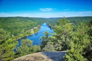 view of the Housatonic River - Little-Laurel Lime Ridge Park