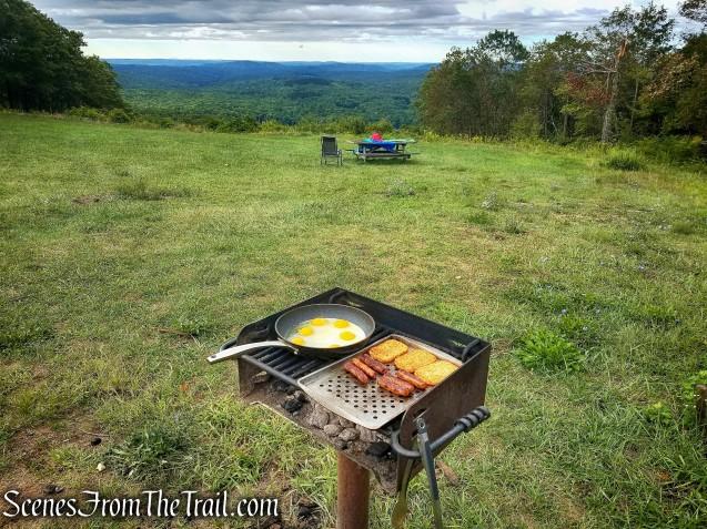 Grilling breakfast - Mohawk Overlook