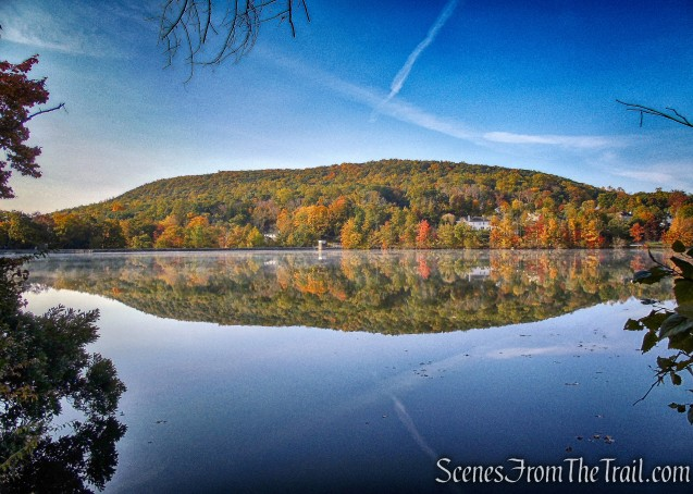 view of High Mountain from Accessible Trail - Franklin Lakes Nature Preserve