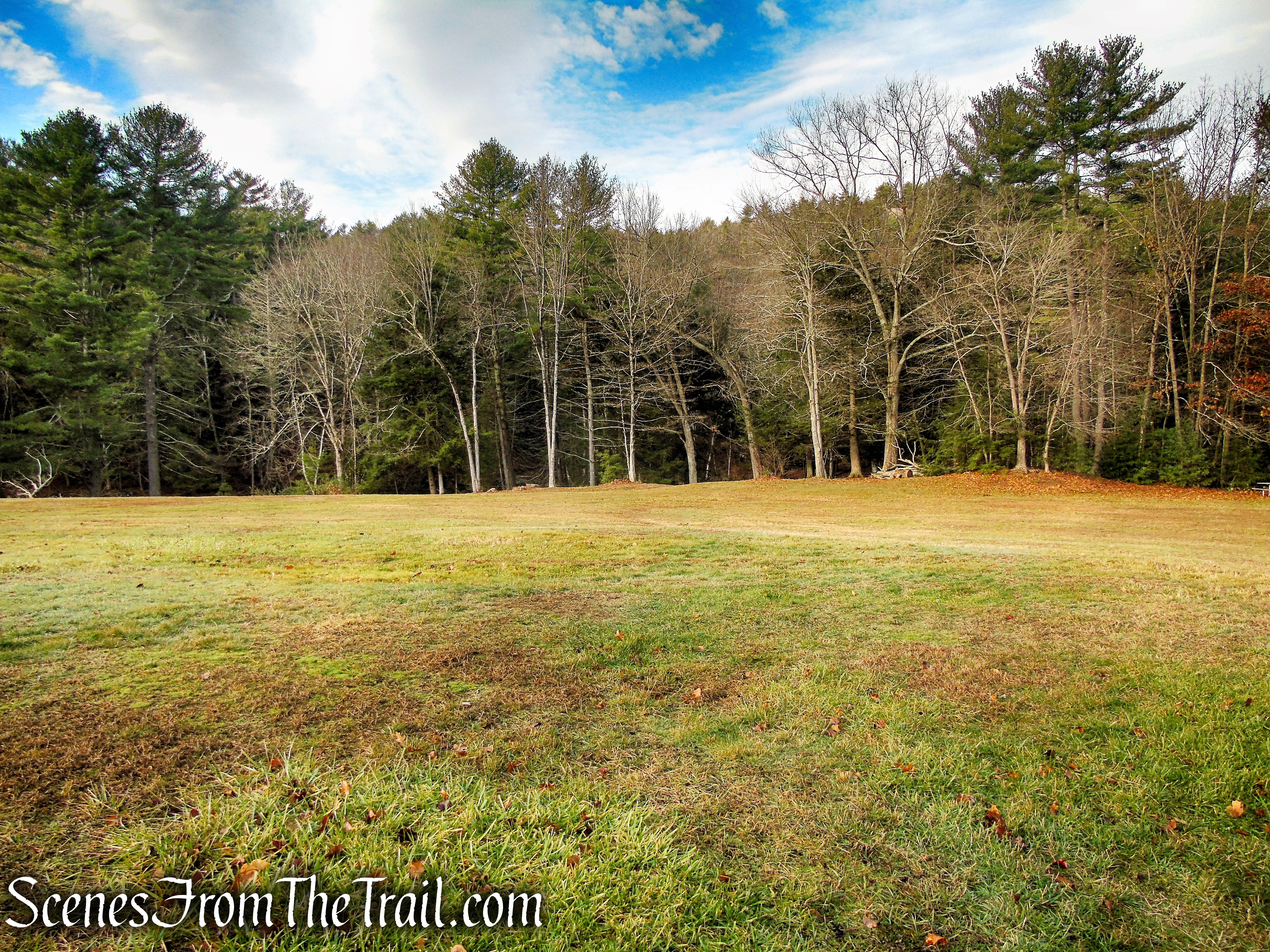 turn right and walk across the field - Black Rock State Park