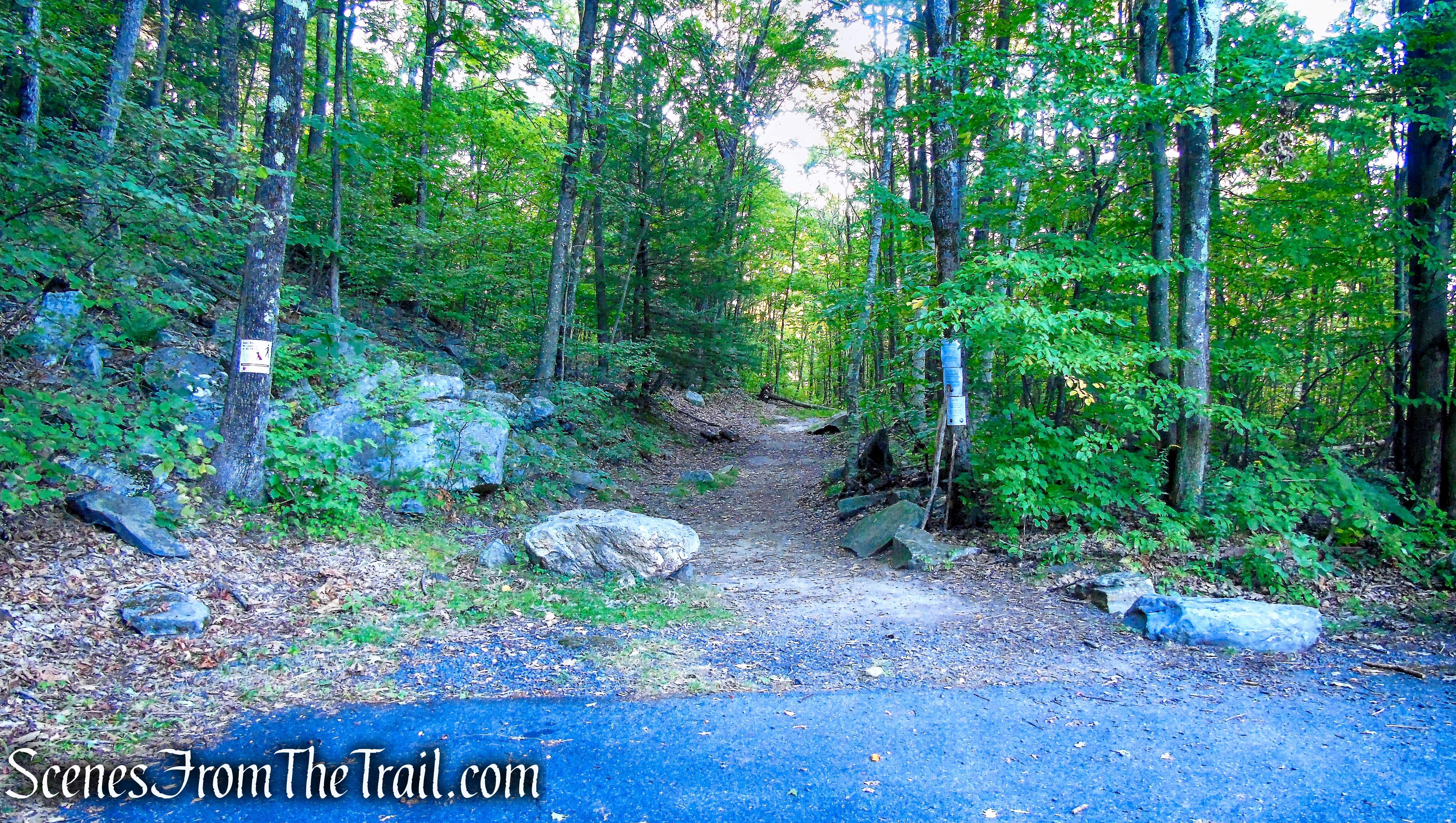 upper trailhead - Haystack Mountain State Park