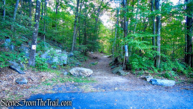 upper trailhead - Haystack Mountain State Park