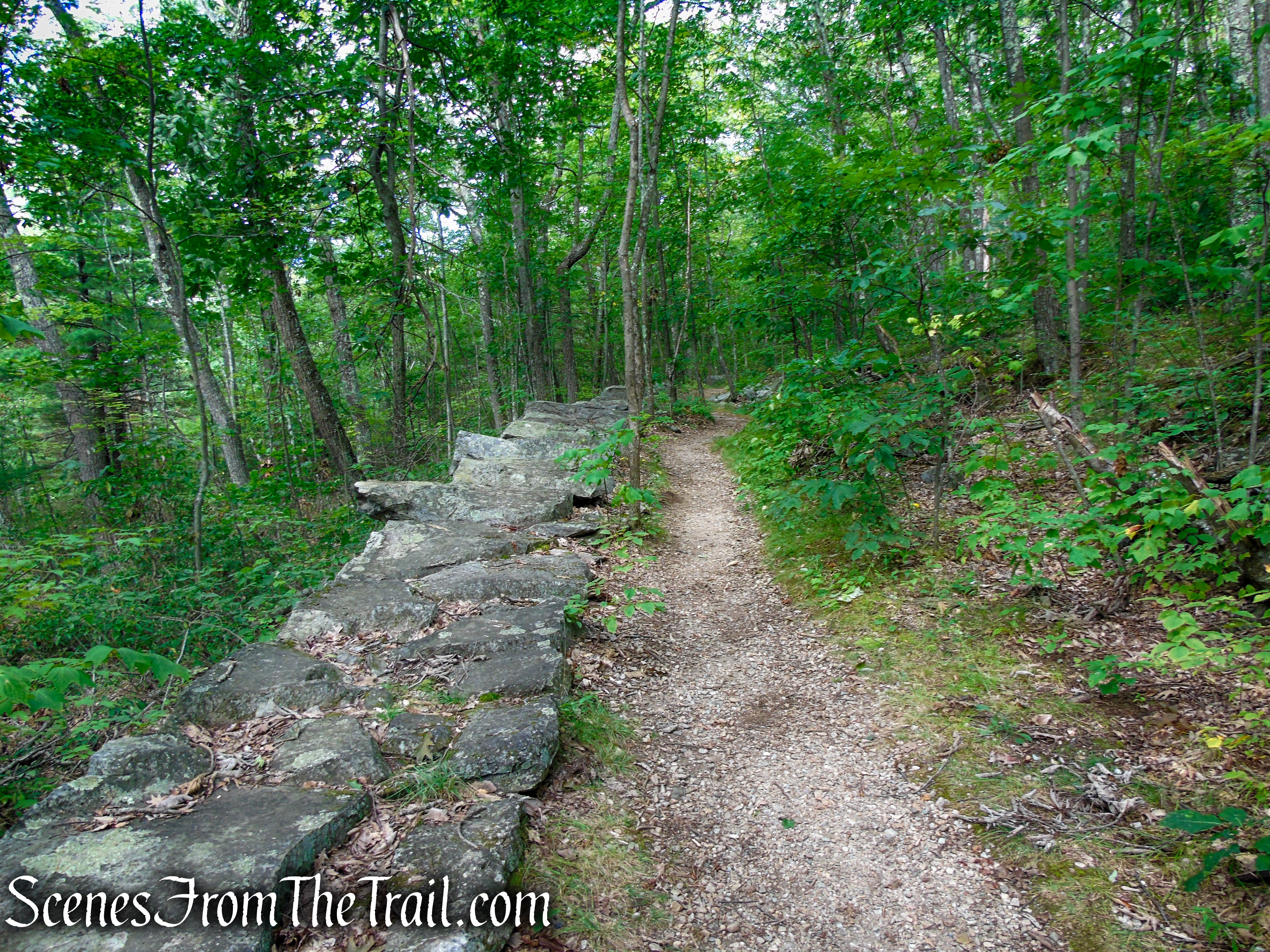 connector trail - Haystack Mountain State Park
