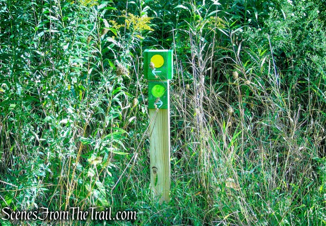 turn left to stay on Meeker Trail