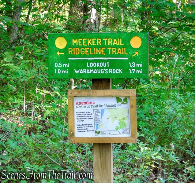 turn left to remain on Meeker Trail