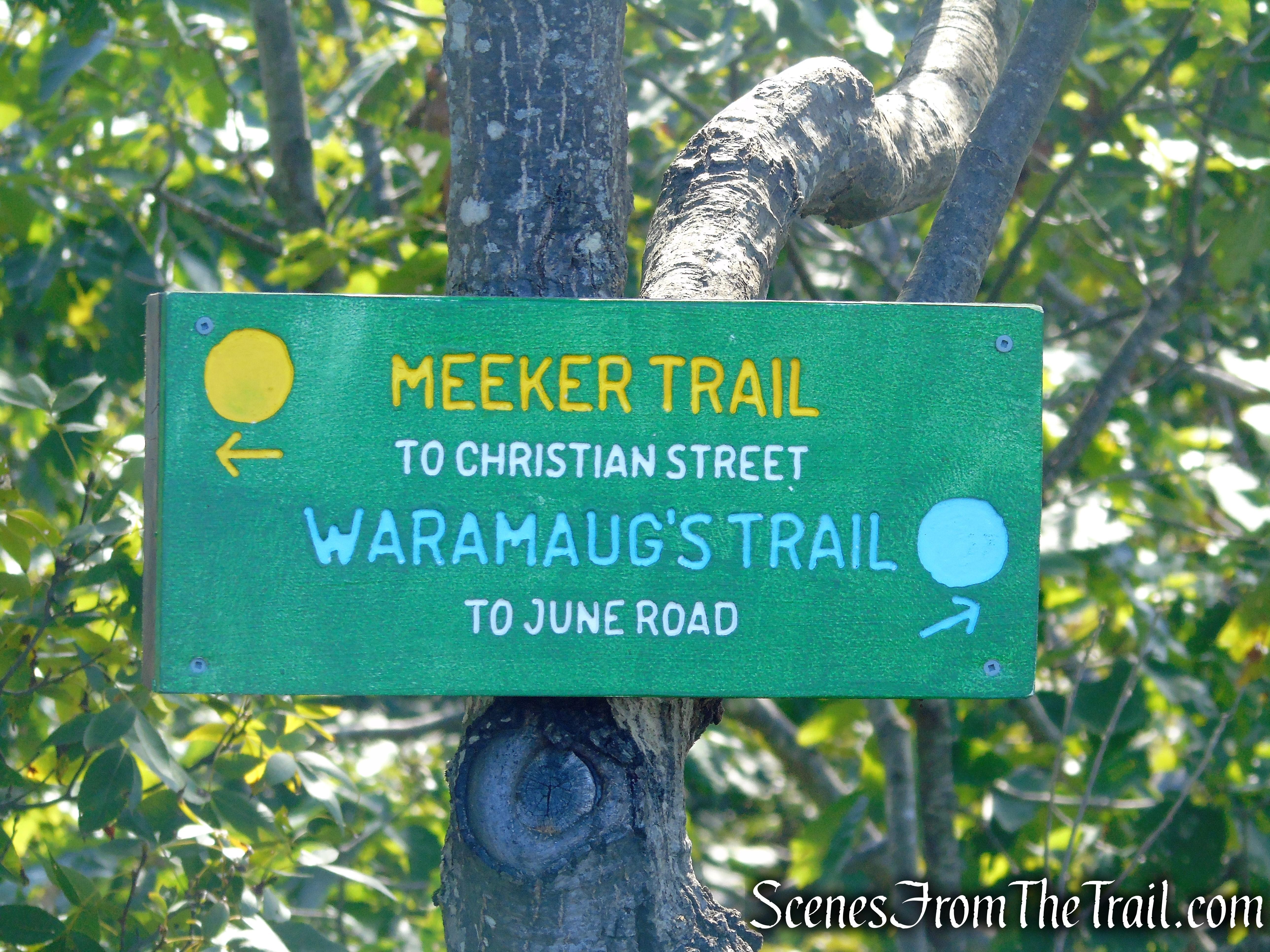 turn left on Meeker Trail