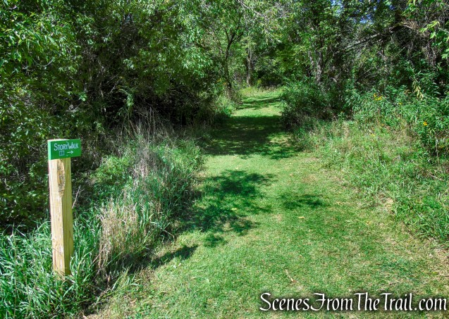 turn left on Story Walk Trail