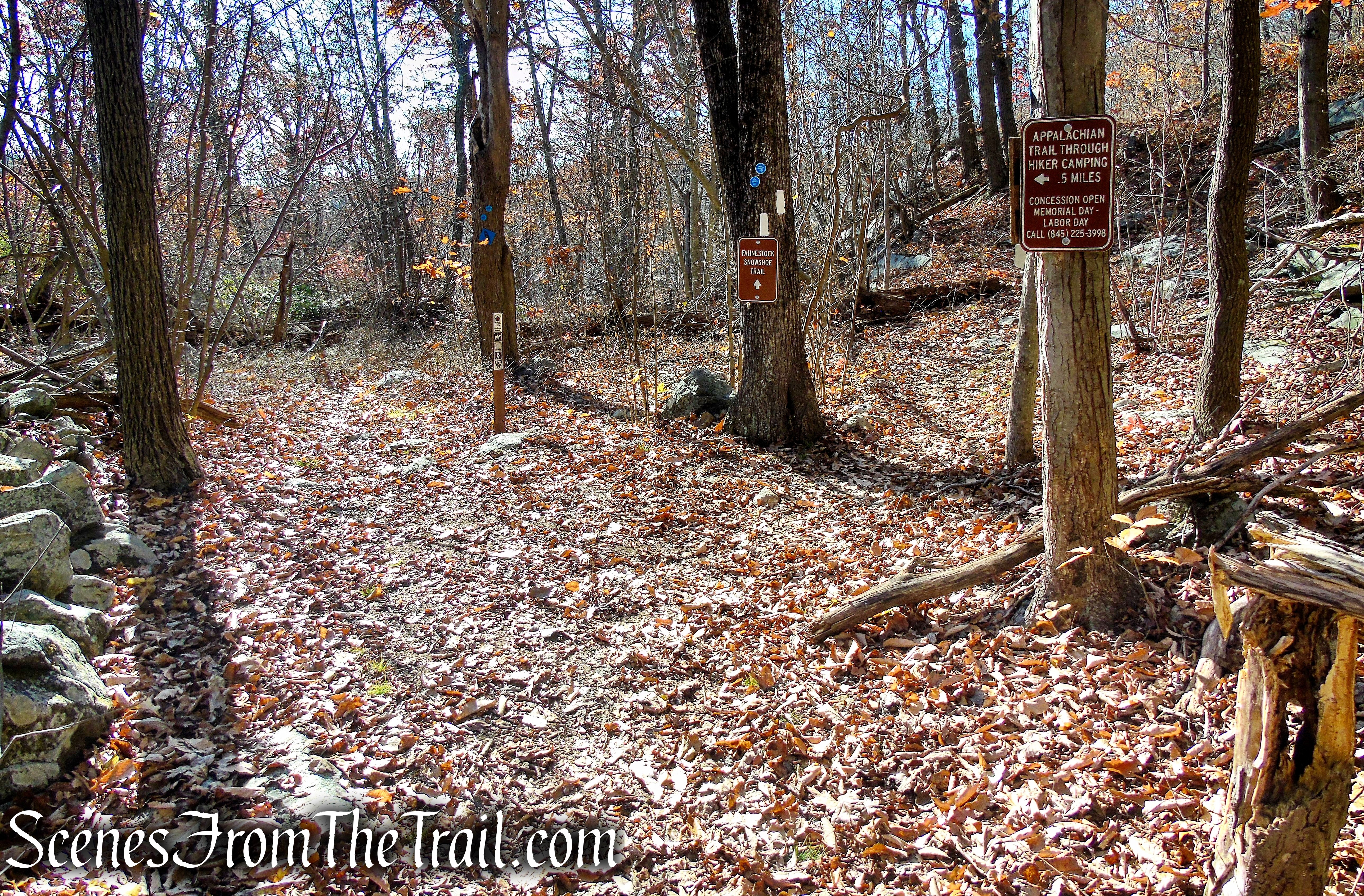turn right to remain on Appalachian Trail
