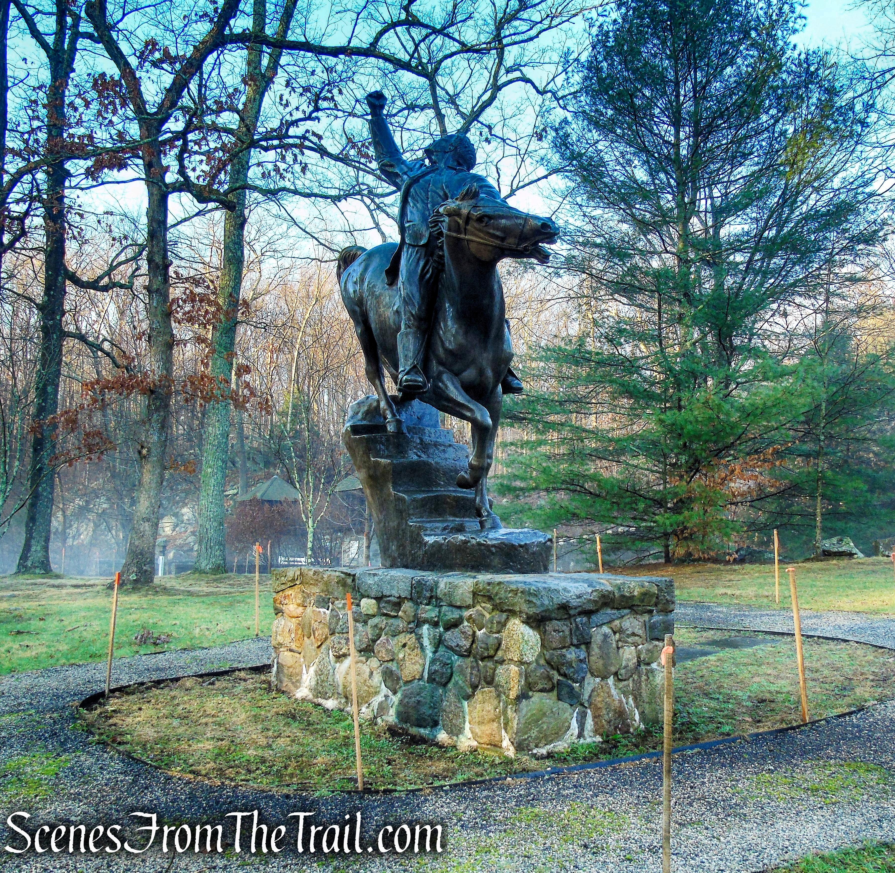 Putnam's Escape at Horseneck Bronze Statue