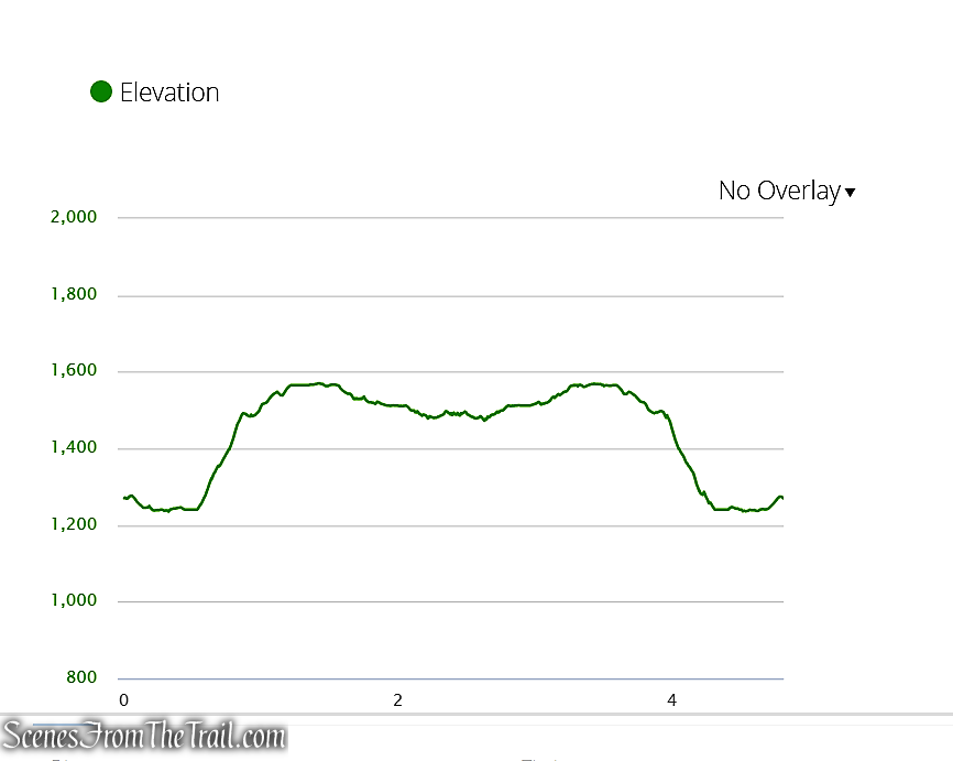 elevation profile - Catfish Fire Tower – Delaware Water Gap