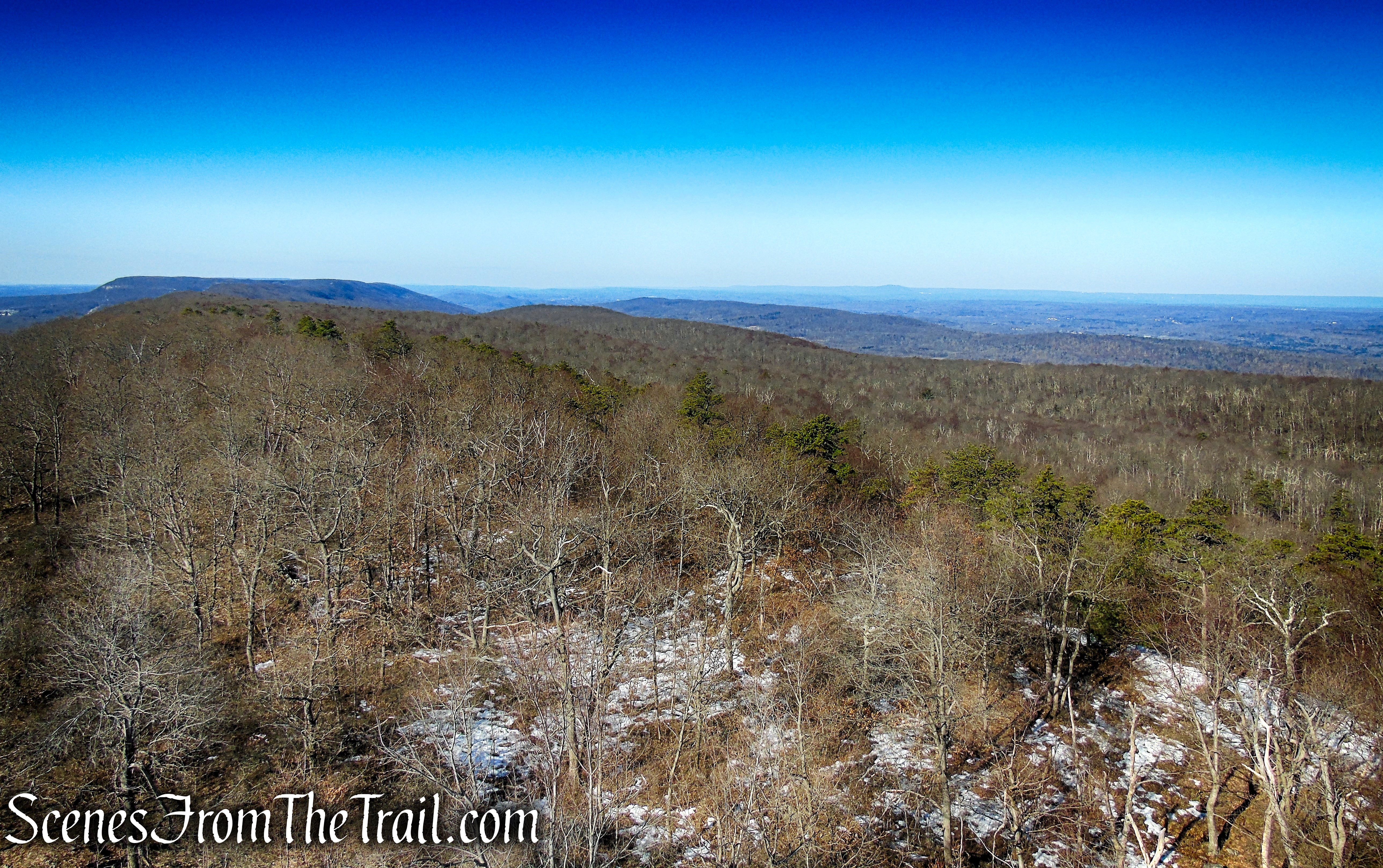 southwest view of the Kittatinny Ridge from Catfish Fire Tower