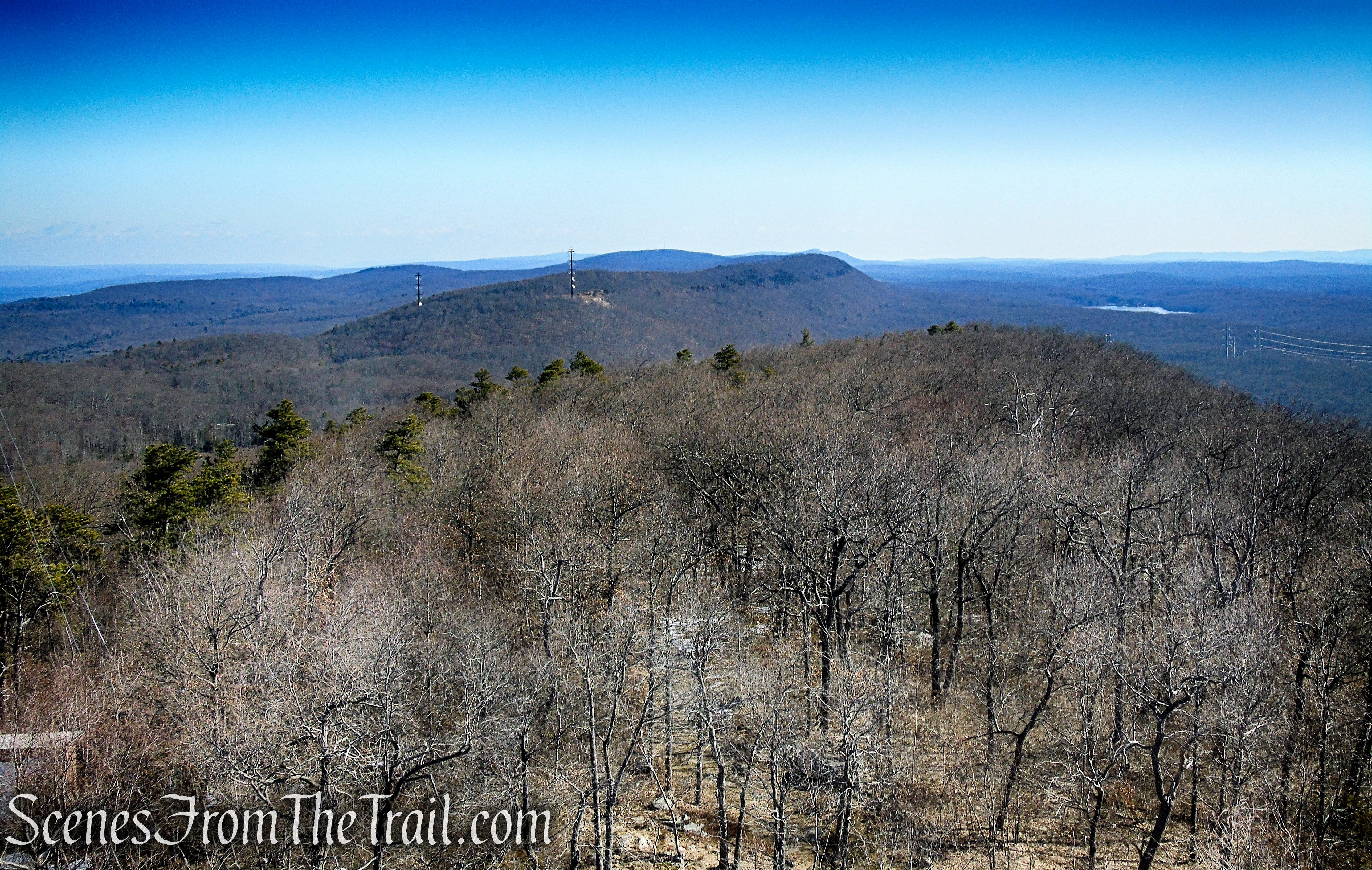 northeast view of the Kittatinny Ridge from Catfish Fire Tower
